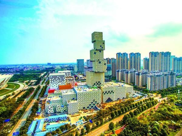 """广东佛山新城文化中心""""坊塔""""建筑群"""