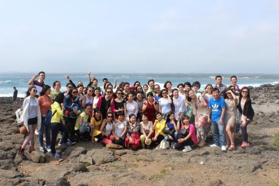 济州岛的大海和蓝天