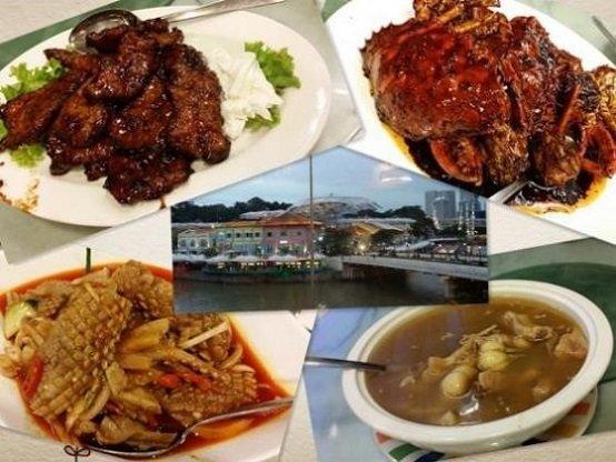 克拉码头品新加坡美食2(排骨王、黑胡椒螃蟹、三巴鱿鱼、肉骨茶)