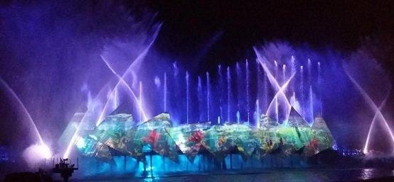 音乐喷泉表演