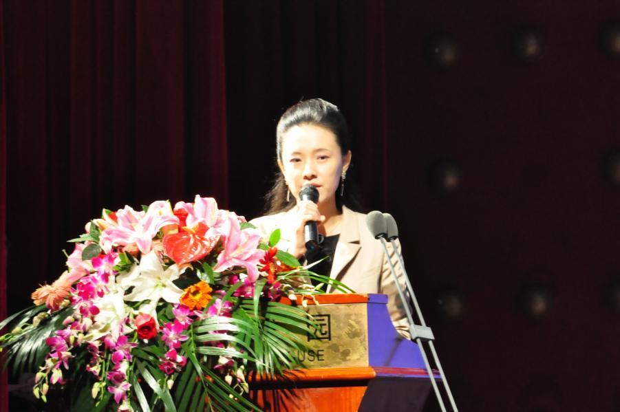瑞达恒建筑副总经理王淑戈致辞